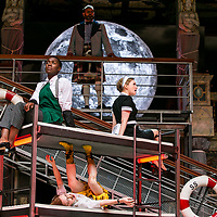 Twelfth Night by William Shakespeare;<br /> Directed by Emma Rice;<br /> Katy Owen as Malvolio;<br /> Carly Bawden as Maria the maid;<br /> Tony Jayawardena as Sir Toby Belch;<br /> Kandaka Moore ensemble;<br /> Shakespeare's Globe;<br /> London, UK.<br /> 23 May 2017<br />