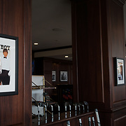 DORAL, FLORIDA, JANUARY 10, 2018<br /> Framed photo of a Playboy Magazine cover  featuring Donald J. Trump inside the Trump National Doral Miami Golf Shop at the Trump National Doral Miami. <br /> (Photo by Angel Valentin/Freelance)