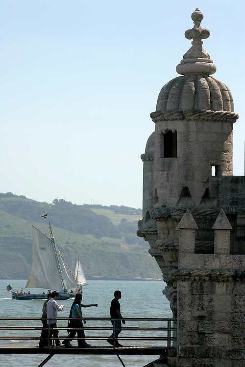 The Belem Tower marks the place where portuguese caravelles sailed starting the era of the Discoveries.