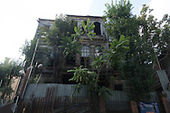 Turkey. Istambul. decaying wooden house in Sultan Hahmet area