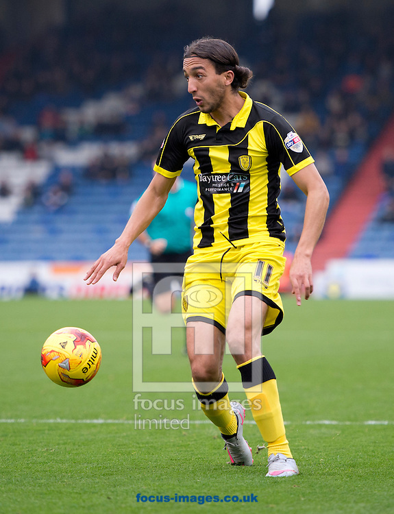 Abdenasser El Khayati of Burton Albion prepares to shoot at goal during the Sky Bet League 1 match at Boundary Park, Oldham<br /> Picture by Russell Hart/Focus Images Ltd 07791 688 420<br /> 31/10/2015
