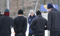 Ante Simundza, head coach of ND Mura 05 during the Training on February 22, 2013 in Fazanerija, Murska Sobota, Slovenia. (Photo By Ales Cipot / Sportida.com)