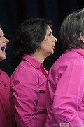 """Internationally acclaimed, award-winning choir """"A Capella West"""" perform onstage at the Guildford Town Hall, part of the opening concert of the 2018 Guildford Songfest"""