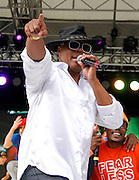 performs during the Rock Steady Crew 38th Anniversary event at Central Park SummerStage on Rumsey Playfield in New York City, New York on July 26, 2015.