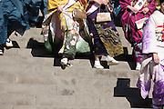 colorful kimono wear Japan