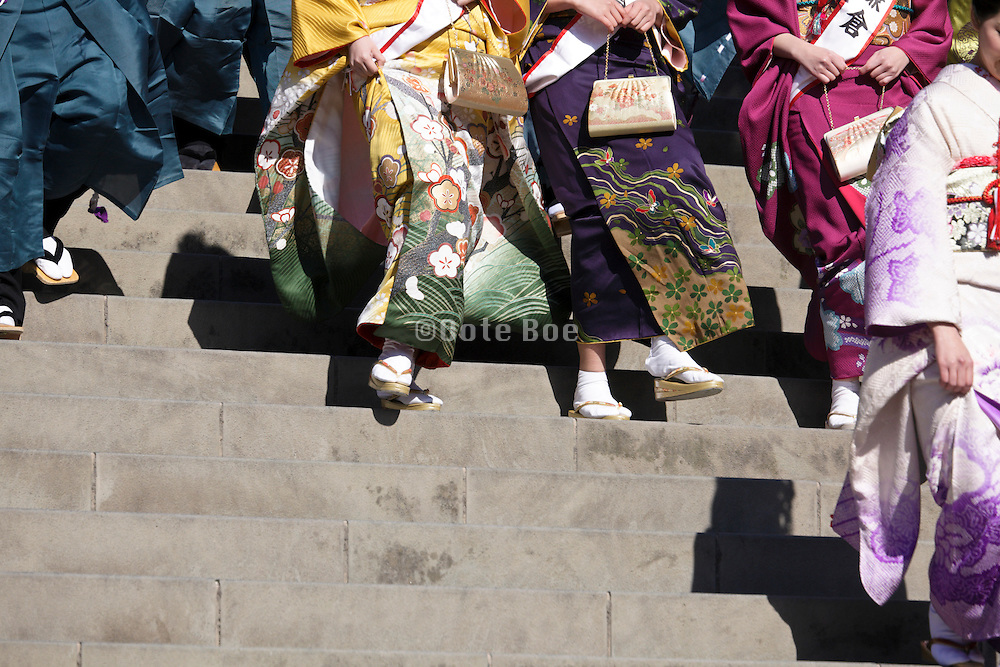 colorful kimono wear Japan