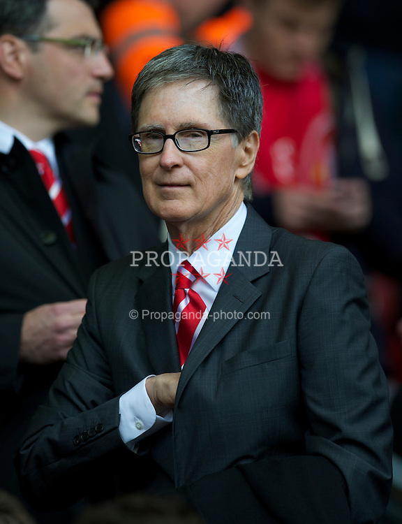 LIVERPOOL, ENGLAND - Sunday, May 15, 2011: Liverpool's owner John W. Henry during the Premiership match against Tottenham Hotspur at Anfield. (Photo by David Rawcliffe/Propaganda)