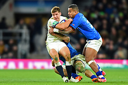 November 25, 2017 - London, England, United Kingdom - England's Piers Francis is tackled during Old Mutual Wealth Series between England against Samoa at Twickenham stadium , London on 25 Nov 2017  (Credit Image: © Kieran Galvin/NurPhoto via ZUMA Press)