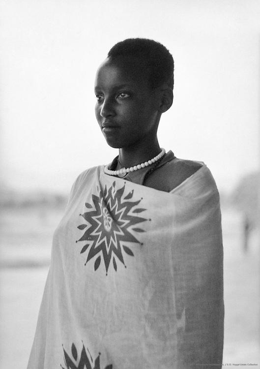 Watussi Girl, Nyanza, Ruanda-Urundi (now Rwanda), Africa, 1937