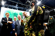 15-11-2018 ROTTERDAM - King Willem Alexander attends the 30th conference of the Dutch Defense and Security Foundation (NIDV) in Rotterdam on Thursday 15 November 2018. Minister Bijleveld of Defense is one of the speakers at the symposium. The King then visits the NIDV exhibition, where industry, government and knowledge institutes in the field of defense and safety-related industries from Europe and beyond present themselves and meet each other.Copyright Robin Utrecht