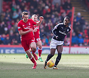 17th March 2018, Pittodrie Stadium, Aberdeen, Scotland; Scottish Premier League football, Aberdeen versus Dundee;