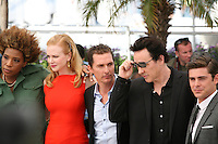 Macy Gray, Nicole Kidman, Matthew Mcconaughey,John Cusack,  Zac Efron,  at The Paperboy photocall at the 65th Cannes Film Festival France. Thursday 24th May 2012 in Cannes Film Festival, France.