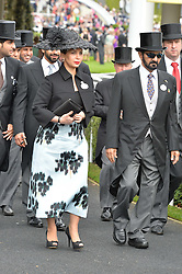 H.H. Sheikh Mohammed bin Rashid Al Maktoum and Princess Haya bint al-Hussein of Jordan at the 1st day of the Royal Ascot Racing Festival 2015 at Ascot Racecourse, Ascot, Berkshire on 16th June 2015.