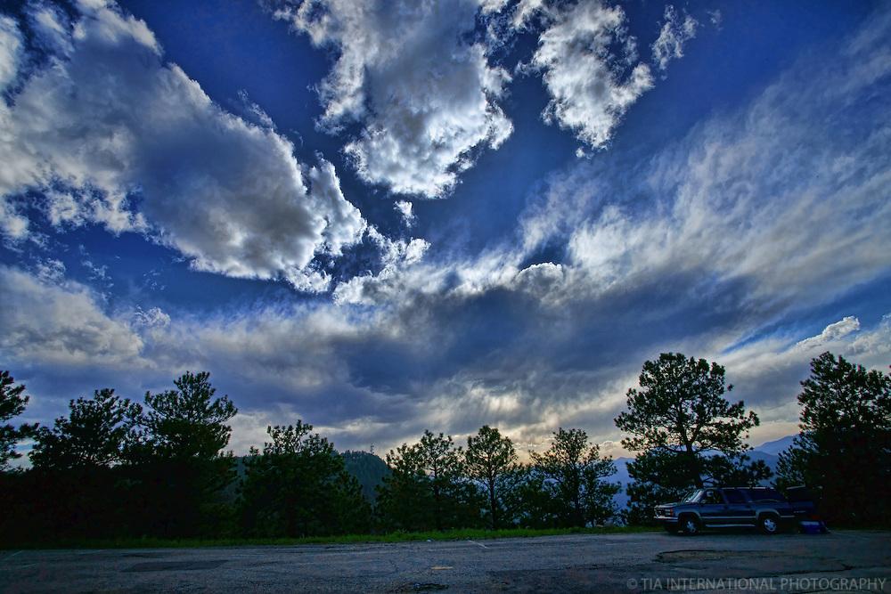 Sky over Lookout Mountain.  Golden, Colorado.