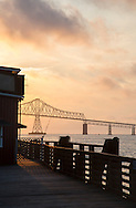 Sunset behind the Astoria-Megler Bridge, Oregon