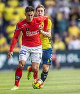 Svenn Crone (Silkeborg IF) og Simon Tibbling (Brøndby IF) under kampen i 3F Superligaen mellem Brøndby IF og Silkeborg IF den 14. juli 2019 på Brøndby Stadion (Foto: Claus Birch)