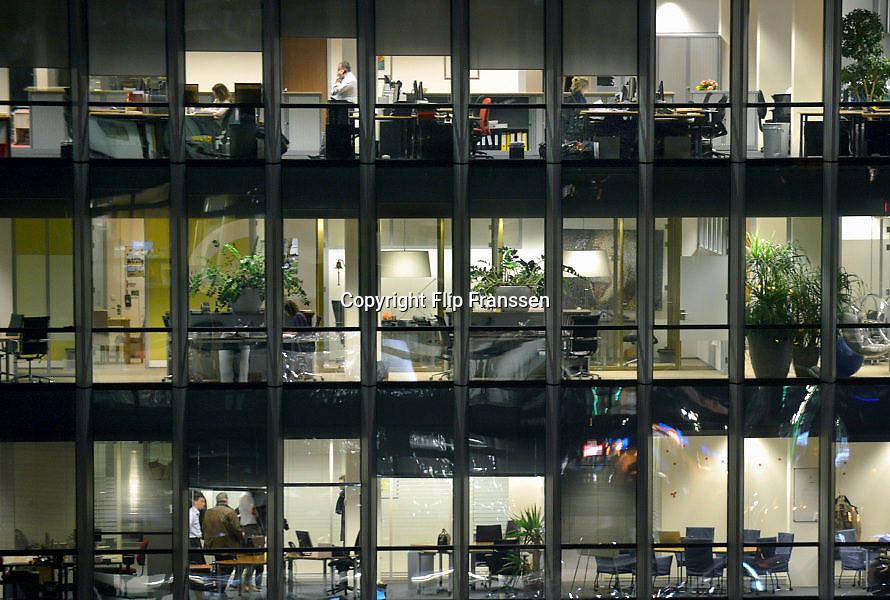 Nederland, Amsterdam, 28-1-2013Serie beelden van de zuidas en rondweg a10 vanuit een hoge lokatie, het anb-amro gebouw. Het vinoly gebouw, vinolygebouw, vinoly-gebouw met verschillende huurders waaronder googleFoto: Flip Franssen/Hollandse Hoogte