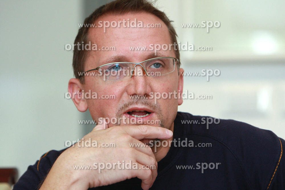 Martin Hvastija, coach of Slovenian National Cycling team at press conference before World Championship 2008 in Varese (ITA), on September 19, 2008, in Ljubljana, Slovenia. (Photo by: Vid Ponikvar / Sportal Images)./ Sportida)