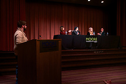 The Feb. 25 Game Changers: Women Making Games <br /> panel discusion was held at Moore College of Art &amp; design's Stewart Auditorium.