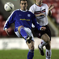 Clyde v St Johnstone..22.03.05<br />David Hannah and Graeme Jones<br /><br />Picture by Graeme Hart.<br />Copyright Perthshire Picture Agency<br />Tel: 01738 623350  Mobile: 07990 594431