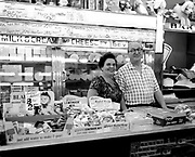 Holland Ham only 99 cents a pound, old fashion grocery store couple and their products