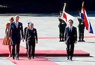 29-10-2014 - TOKIO -  Welcome Ceremony Imperial Palace king Willem alexander and queen Maxima  meet Emperor Akihito and Empress Michiko and Crown Princess Masako, Crown Prince Naruhito during a 3 days State visit of king Willem alexander and queen Maxima to Japan.  COPYRIGHT ROBIN UTRECHT