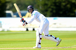 Alex Hughes of Derbyshire - Mandatory by-line: Robbie Stephenson/JMP - 20/04/2018 - CRICKET - The 3aaa County Ground  - Derby, England - Derbyshire CCC v Middlesex CCC - Specsavers County Championship Division Two
