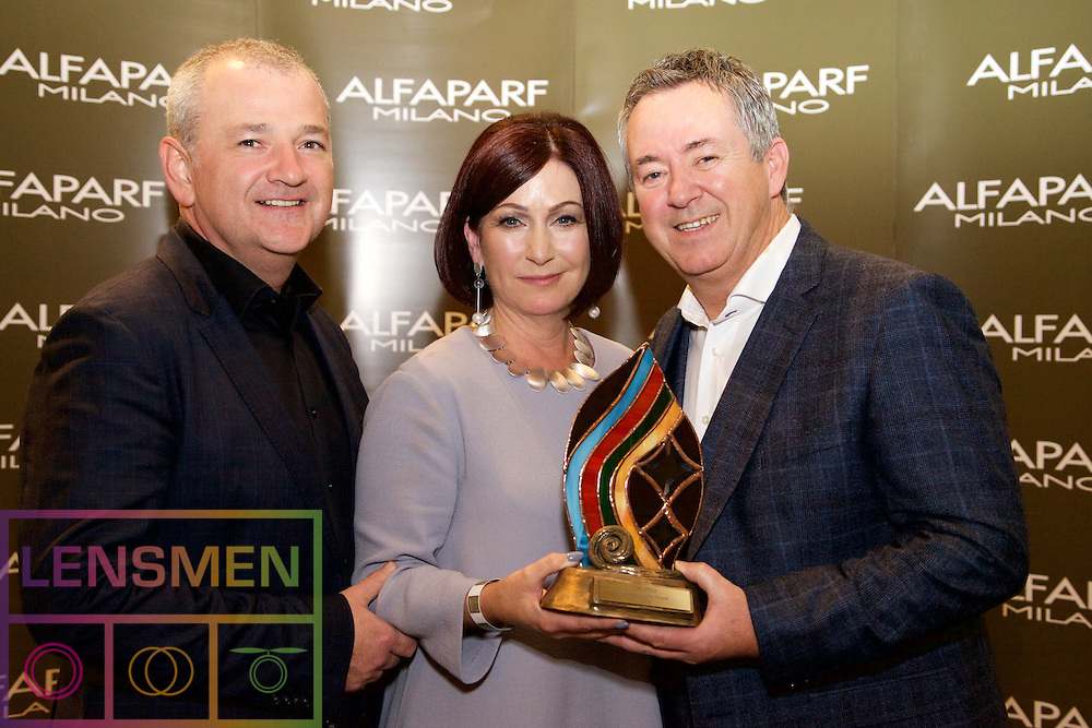 AMF Salon<br /> <br /> David Donnellan, Alfaparf Milano Ireland<br /> Irene and Duncan Kenna, Winners, from Occasions Hair Salon, Naas