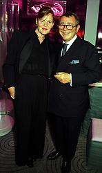 MR & MRS JOSEPH ETTEDGUI, he is fashion designer Joseph, at a party in London on 16th September 1999.MWK 7