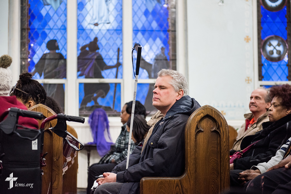 Worshippers gather during service at St. Thomas Lutheran Church, Baltimore, on Saturday, March 24, 2018. LCMS Communications/Erik M. Lunsford