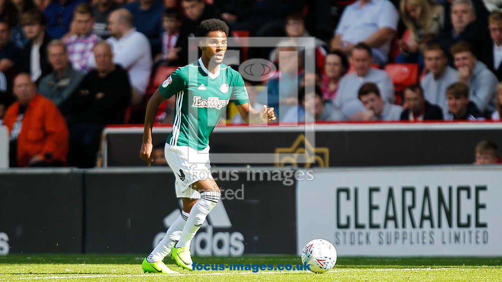 Rico Henry of Brentford during the Sky Bet Championship match between Sheffield United and Brentford at Bramall Lane, Sheffield<br /> Picture by Mark D Fuller/Focus Images Ltd +44 7774 216216<br /> 05/08/2017