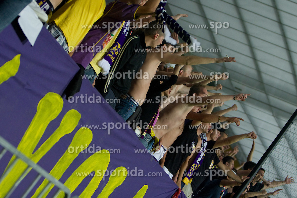 Fans of Maribor at Third Round of Champions League qualifications football match between NK Maribor and FC Zurich,  on August 05, 2009, in Ljudski vrt , Maribor, Slovenia. Zurich won 3:0 and qualified to next Round. (Photo by Vid Ponikvar / Sportida)