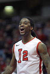 13 February 2013:  Bryant Allen during an NCAA Missouri Valley Conference mens basketball game where the Bradley Braves were defeated by Illinois State Redbirds 79-59 in Redbird Arena, Normal IL