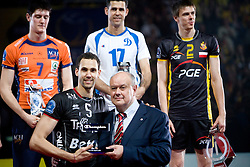 Osmany Portuondo Juantorena of Trentino as MVP player at final ceremony after the  final match of CEV Indesit Champions League FINAL FOUR tournament between Dinamo Moscow, RUS and Trentino BetClic, ITA on May 2, 2010, at Arena Atlas, Lodz, Poland. Trentino defeated Dinamo 3-0 and became Winner of the Champions League. (Photo by Vid Ponikvar / Sportida)