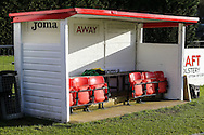 The away dug out before the Conference North match between Brackley Town and Lowestoft Town at St. James Park, Brackley<br /> Picture by David Horn/Focus Images Ltd +44 7545 970036<br /> 24/01/2015