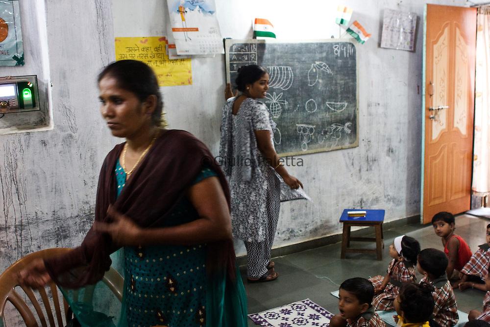 Christian school in Dharavi slum, Mumbai