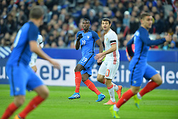 29.03.2016, Stade de France, St. Denis, FRA, Testspiel, Frankreich vs Russland, im Bild pogba paul, dzagoev alan // during the International Friendly Football Match between France and Russia at the Stade de France in St. Denis, France on 2016/03/29. EXPA Pictures © 2016, PhotoCredit: EXPA/ Pressesports/ LAHALLE PIERRE<br /> <br /> *****ATTENTION - for AUT, SLO, CRO, SRB, BIH, MAZ, POL only*****