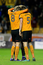 Wolverhampton Wanderers celebrate after beating rivals Aston Villa - Mandatory by-line: Dougie Allward/JMP - 14/01/2017 - FOOTBALL - Molineux - Wolverhampton, England - Wolverhampton Wanderers v Aston Villa - Sky Bet Championship