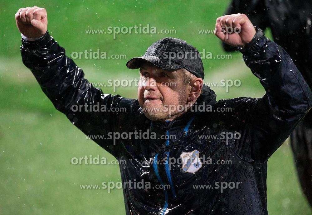 Matjaz Kek, head coach of HNK Rijeka reacts after winning during football match between HNK Rijeka and HNK Hajduk Split in Round #15 of 1st HNL League 2016/17, on November 5, 2016 in Rujevica stadium, Rijeka, Croatia. Photo by Vid Ponikvar / Sportida