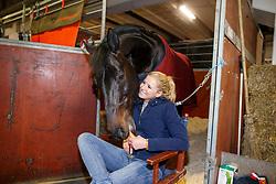 BREDOW-WERNDL Jessica (GER), Unee BB<br /> Göteborg - Horse Show FEI World Cup Final 2016 <br /> Stallbesuch<br /> © www.sportfotos-lafrentz.de / Stefan Lafrentz
