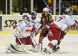 05.04.2011, Stadthalle, Klagenfurt, AUT, EBEL, FINALE, EC KAC vs EC RED BULL SALZBURG, im Bild Reinhard Divis, (EC RED BULL SALZBURG, #38), Manuel Latusa, (EC RED BULL SALZBURG, #15), Tyler Scofield, (EC KAC, #10), // during the EBEL Icehockey Final, EC KAC vs EC RED BULL SALZBURG at the Stadthalle, Klagenfurt, 05/03/2011, EXPA Pictures © 2011, PhotoCredit: EXPA/ J. Feichter