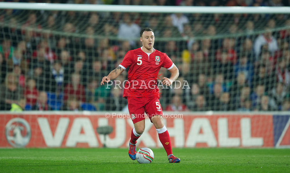 CARDIFF, WALES - Wednesday, February 29, 2012: Wales' Darcy Blake in action against Costa Rica during the international friendly match at the Cardiff City Stadium. (Pic by David Rawcliffe/Propaganda)
