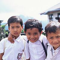 Bali, Batur school boys