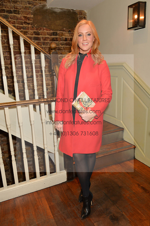 SARAH-JANE MEE at a party to celebrate the publication of The Stylist by Rosie Nixon held at Soho House, London on 10th February 2016.