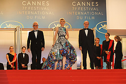 Thierry Fremaux, Pierre Lescure, Jury President Cate Blanchett attends the screening of 'Cold War (Zimna Wojna)' during the 71st annual Cannes Film Festival at Palais des Festivals on May 10, 2018 in Cannes, France. Photo by David Boyer/ABACAPRESS.COM
