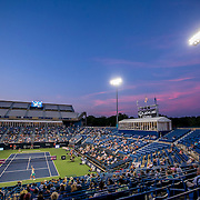 August 24, 2016, New Haven, Connecticut: <br /> The stadium is shown during a match between Eugenie Bouchard of Canada and Petra Kvitova on Day 6 of the 2016 Connecticut Open at the Yale University Tennis Center on Wednesday, August  24, 2016 in New Haven, Connecticut. <br /> (Photo by Billie Weiss/Connecticut Open)
