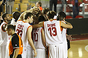 DESCRIZIONE : Roma Lega A 2012-13 Virtus Roma Trenkwalder Reggio Emilia<br /> GIOCATORE :  team <br /> CATEGORIA : fair play curiosita esultanza <br /> SQUADRA : Virtus Roma<br /> EVENTO : Campionato Lega A 2012-2013 <br /> GARA : Virtus Roma Trenkwalder Reggio Emilia<br /> DATA : 14/10/2012<br /> SPORT : Pallacanestro <br /> AUTORE : Agenzia Ciamillo-Castoria/M.Simoni<br /> Galleria : Lega Basket A 2012-2013  <br /> Fotonotizia : Roma Lega A 2012-13 Virtus Roma Trenkwalder Reggio Emilia<br /> Predefinita :