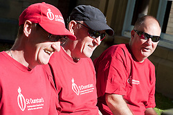 At St Dunstans Centre on Fullwood Road Sheffield, from left to right are Charlie Eastwood,  Billy Black and Chris Lee who are all taking part in the Center2Centre March from Bristol to LLandudno a distance of 327 miles.13th September2011 Image © Paul David Drabble