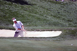 16 July 2006 John Senden plays out of the right bunker on #18 and lands the ball within inches of the cup to save the hole and match. The John Deere Classic is played at TPC at Deere Run in Silvis Illinois, just outside of the Quad Cities