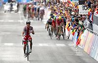 Sykkel<br /> UCI VM 2014 <br /> Ponferrada Spania <br /> 28.09.2014 <br /> Foto: PhotoNews/Digitalsport<br /> NORWAY ONLY<br /> <br /> 1st Kwiatkowski Michal (POL) -  2nd Gerrans Simon (AUS) - 3th  Valverde Alejandro (ESP) - 4th Breschel Matti (DEN) - 5th Greg Van Avermaet (BEL) - 6th Gallopin Tony (FR) - 7th Gilbert Philippe (BEL) pictured during the Men Elite Road Race of the UCI Road World Championships in Ponferrada, Spain.